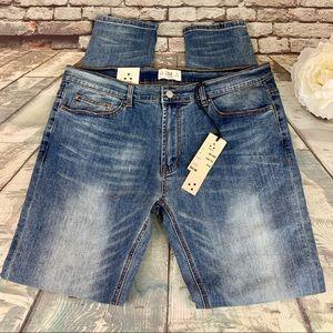 ZAKBRAND Slim Fit Weekend Blue Jeans 34W 32L